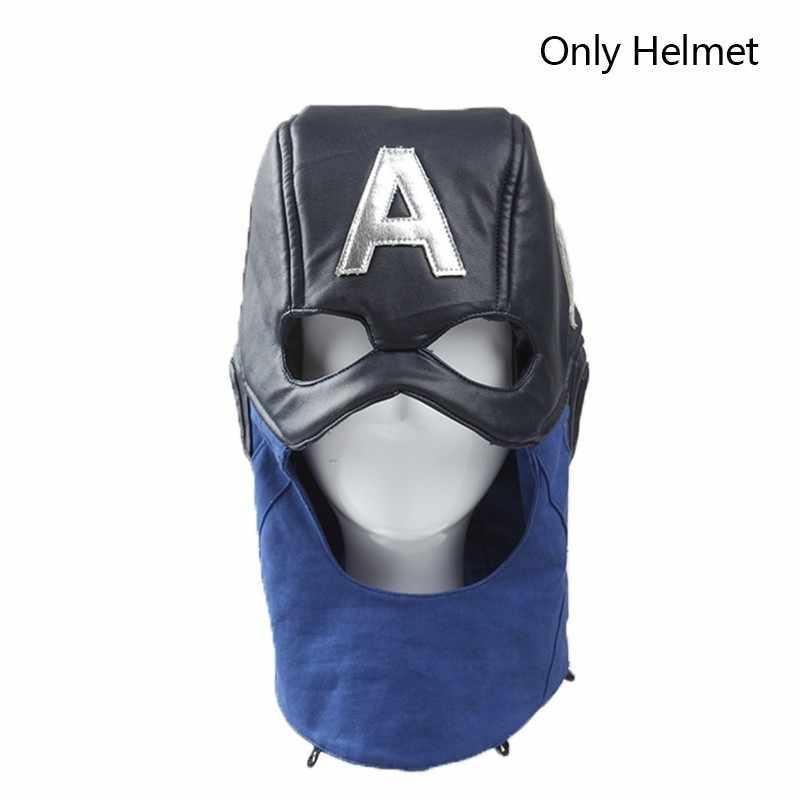 Avengers 1 กัปตันอเมริกา Steven Rogers คอสเพลย์เครื่องแต่งกาย Superhero ฮาโลวีนเฉพาะถุงมือกางเกงเข็มขัดอุปกรณ์เสริมหมวกนิรภัย