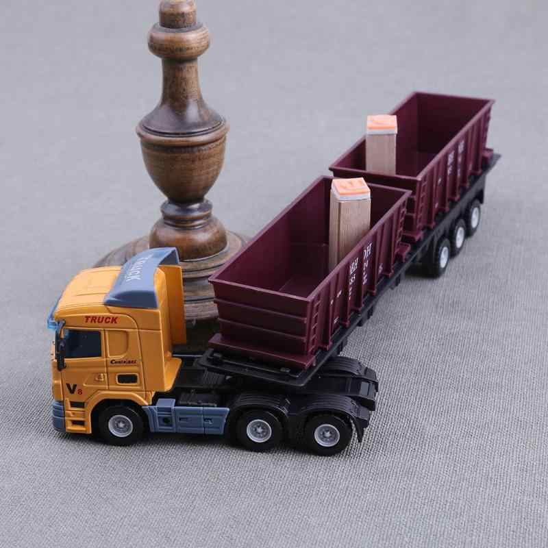 1:48 European Transport Container Alloy Truck Model Car Toy Simulation Car Montessori Educational Toys For Children gift