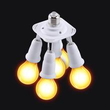 Adjustable E27 Base Light Lamp Bulb Socket 5 in 1 90V-240V Adapter Holder Splitter Hot Sale