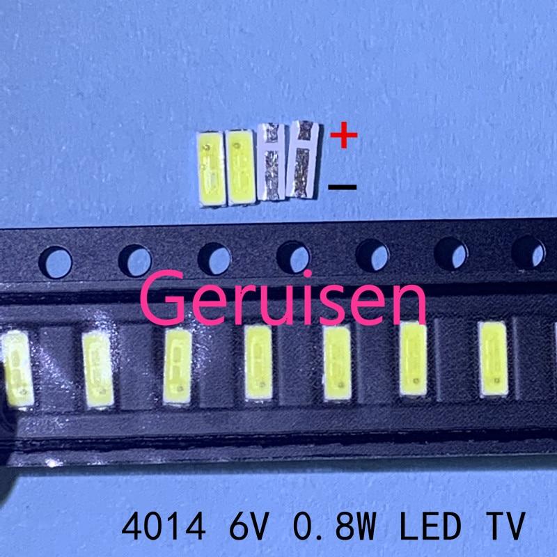 1000 Stks/partij 4014 4020 Chip-2 Smd Led Kralen Koud Wit 1 W 6 V 150ma Voor Tv/ Lcd Backlight