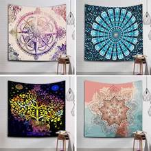 229x150cm Large Mandala Indian Tapestry Wall Hanging Bohemian Beach Towel Polyester Thin Blanket Yoga Mat Rug Shawl Throw Sheet(China)