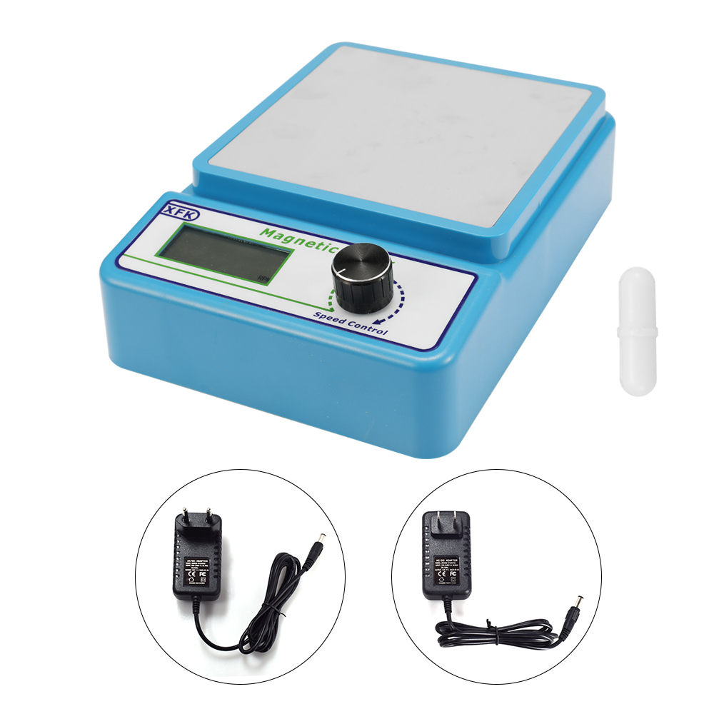 Mini Size Professional Magnetic Stirrer Magnetic mixer with Stir Bar 2400 rpm Max Stirring Capacity 1000ml
