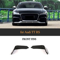 Carbon Fiber Front Fins For Audi TTRS 2 Door Coupe Bumper Fins Bodykit