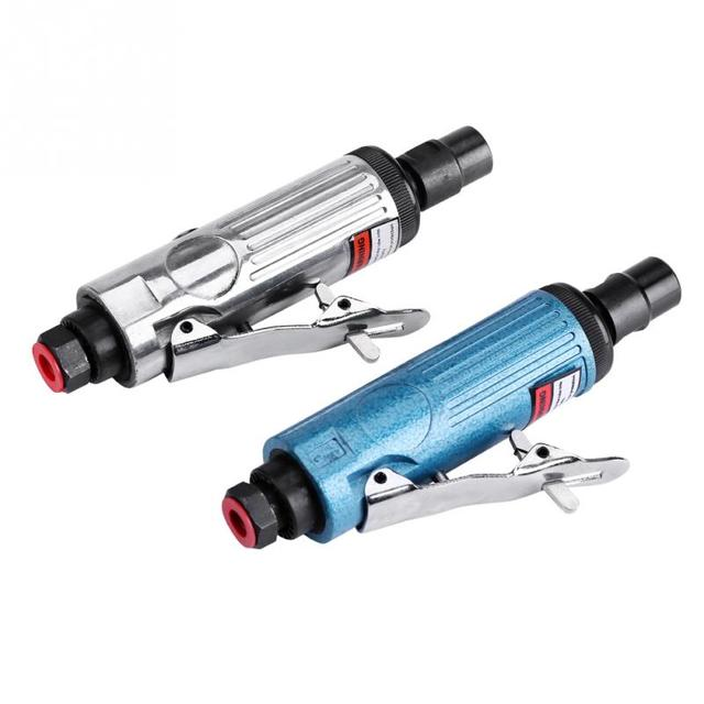 Pneumatische grinder carving werkzeug pneumatische werkzeug gravur polieren maschine pneumatische form grinder polijstmachine Splitter/Blauw