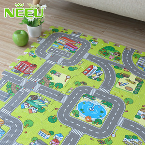 Image 3 - תינוק EVA קצף פאזל לשחק רצפת מחצלת עיר כביש חינוך שטיחים אריחי שלובים ילדים ציר תנועה קרקע כרית (לא קצה) NEEU