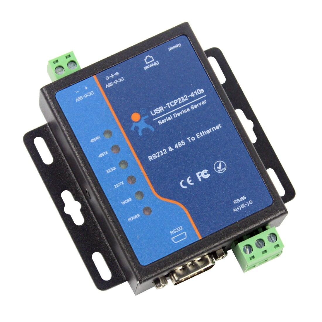 Q18039 USR-TCP232-410S терминала Питание RS232 RS485 к TCP/IP переходной кабель, последовательный Ethernet сервер для устройств с последовательным интерфейсом