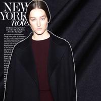 150 см старший черный шерсть ткань однотонный Австралийский шерстяной пиджак костюм ткань натуральный шерсть ткань