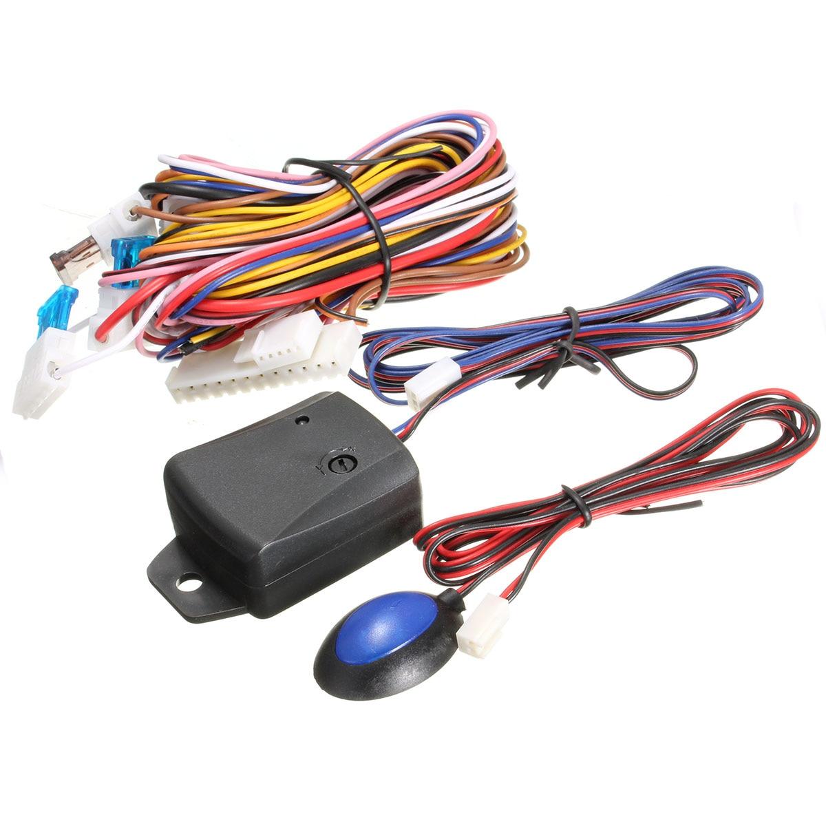 1 Set systèmes d'alarme voiture Auto Kit Central à distance serrure de porte verrouillage véhicule sans clé système d'entrée avec télécommandes - 2