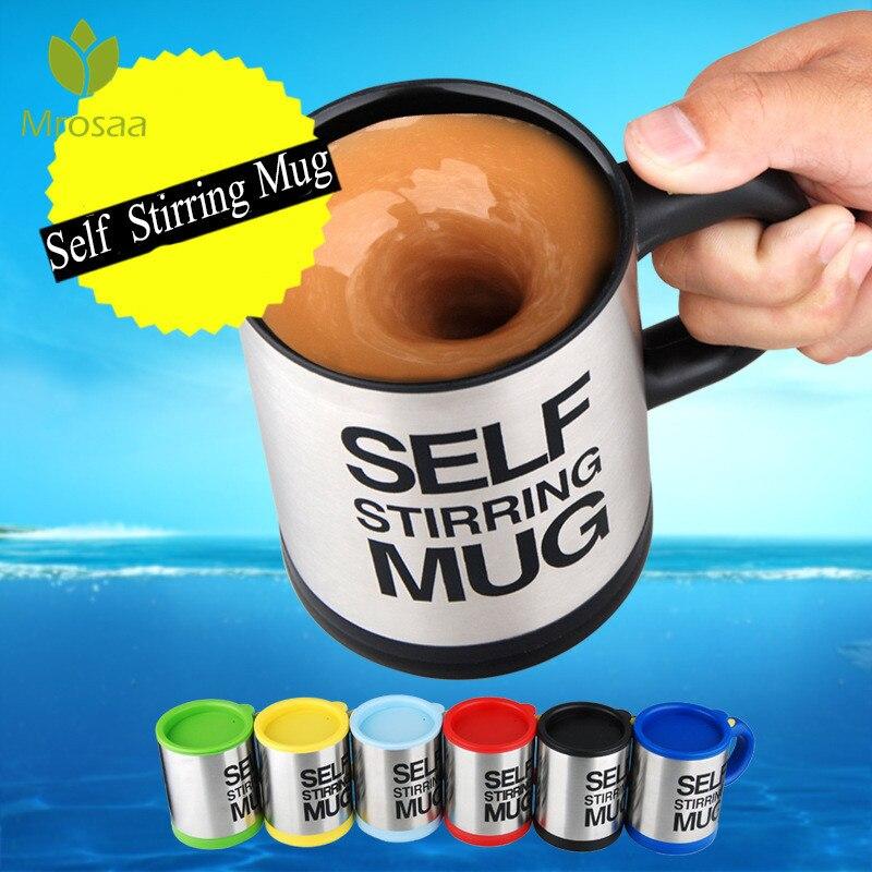 400 ml tazas eléctrico automático perezoso taza de café leche de mezcla taza inteligente de acero inoxidable de mezcla Copa drinkware