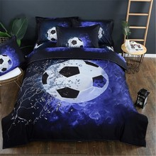 No Sheet No Filling Football Printed Bedding Sets Duvet Cover 3pcs Bed Set Single Twin Double Queen size Bed linen Bedclothes