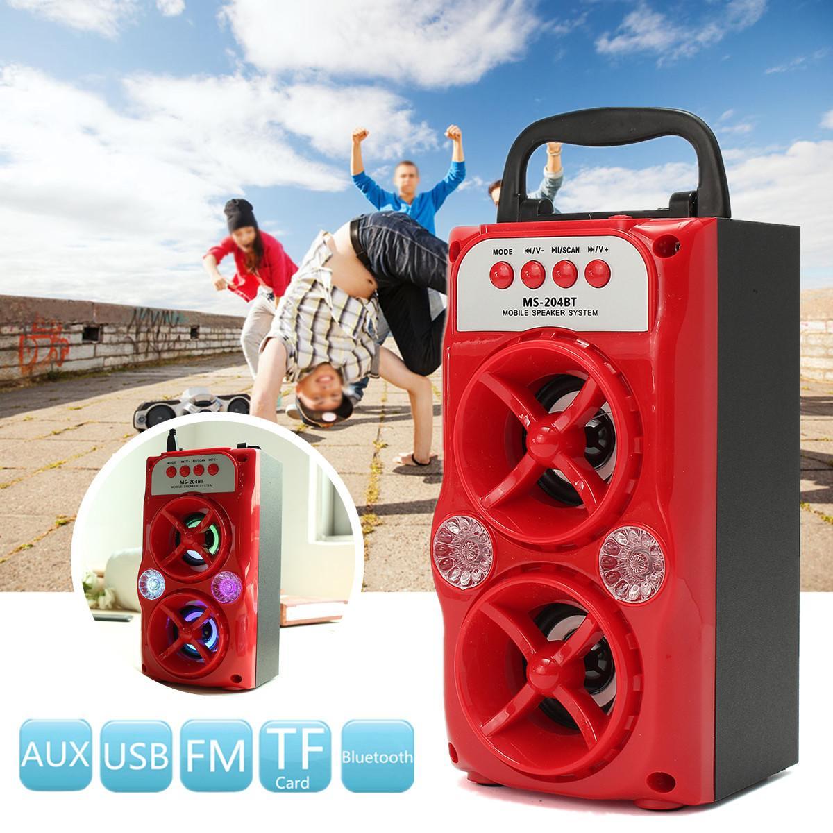 10 W Tragbare Drahtlose Bluetooth Stereo Lautsprecher Unterstützung Usb/tf/aux/fm Radio Tf Karte Lautsprecher Sound System Musik Outdoor Erfrischend Und Wohltuend FüR Die Augen