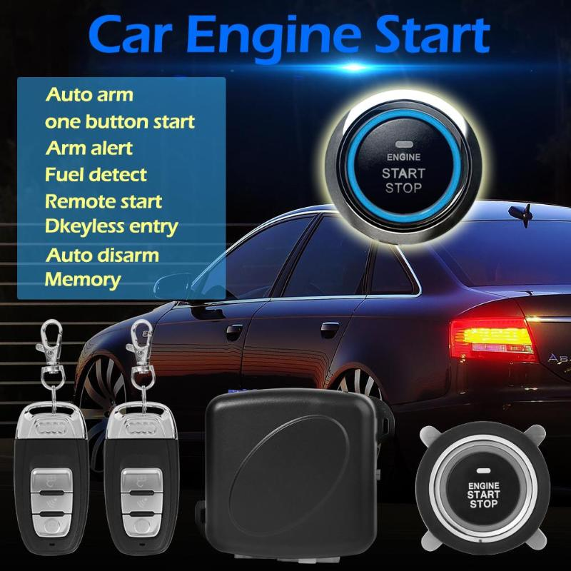 9 pièces/ensemble complet sécurité voiture SUV sans clé entrée moteur démarrage système d'alarme bouton poussoir démarreur à distance arrêt Auto accessoires