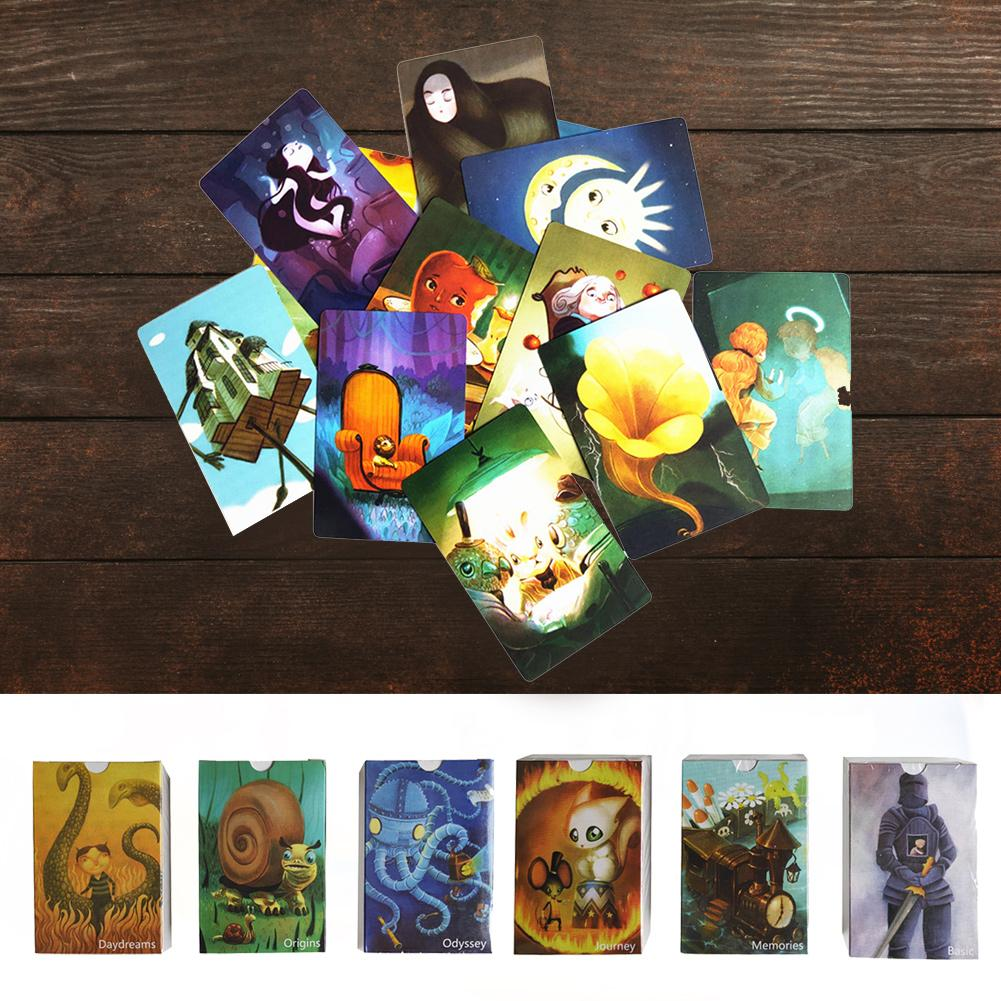 84 PCs Board Game Just A Word DIXIT Multiplayer Party Game English 6 Expansion Packs Jigsaw / 3D Puzzle / Tangram / Sudoku
