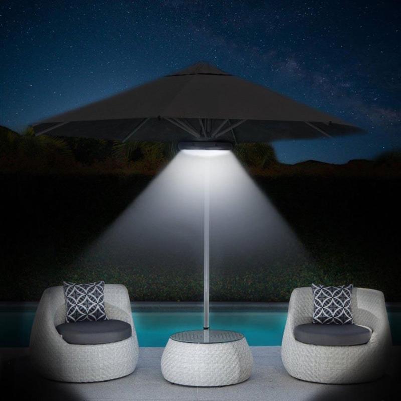 Multifunctional Outdoor Camping Smart 7 Color 48LED Tent Light Sun Umbrella Lamp Bluetooth Speaker For Emergency Light