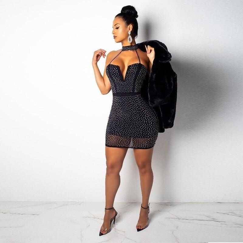 V Cou Clubwear Dames Femmes Moulante Sans Bline Courte Black Moulantes Robes Ceremokiss Mini Gaine Sequin Noir Manches Robe Zp4Cq66
