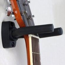 Черный подвесной крючок для гитары, держатель, настенное крепление, стойка, кронштейн, дисплей, крепкий Фиксированный Настенный гитарный бас-шурупы, аксессуары