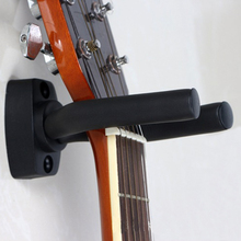 Black Guitar Hanger Hook Holder Wall Mount Stand Rack Bracket Display Strong Fixed Wall Guitar Bass Screws Accessories guitar ukelele wall mount stand hanger rack hook wooden base bracket universal bass display compact easy to install