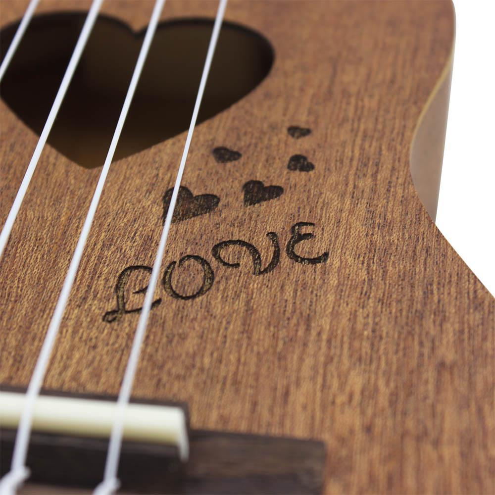 IRIN 17 pouces 12 frettes Sapele épicéa ukulélé guitare 4 cordes hawaïenne guitare Instruments de musique avec sac pour débutants cadeau - 4