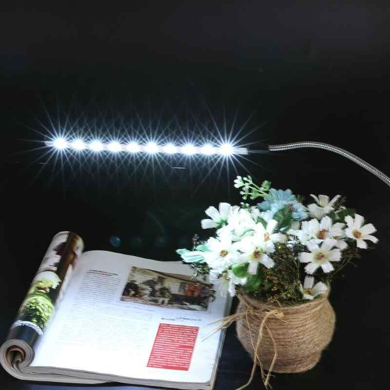 10 LED ضوء مرن صغير جدا مشرق USB شحن كمبيوتر محمول جهاز كمبيوتر شخصي الجدول مصباح جميع زاوية قابل للتعديل الكمبيوتر القراءة مصباح