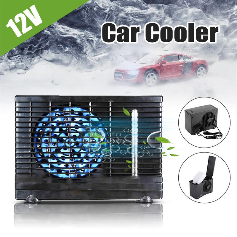 12V ventilateur de voiture Portable refroidisseur d'air sans fluorure haute vitesse réglable ventilateur de refroidissement à usage Multiple