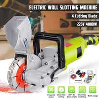 DIY Home Decoration Brick Wall Electric Groove Cutting Machine 220V 4000W Steel Concrete Cutter Slotting Machine Grooving Tools