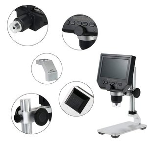 Image 4 - Digital USB Microscope 600X 4.3 LCD Display Electronic Video Magnifier HD 3.6MP CCD Adjustable 8 LEDs1080P/7 UK plug Magnifiers
