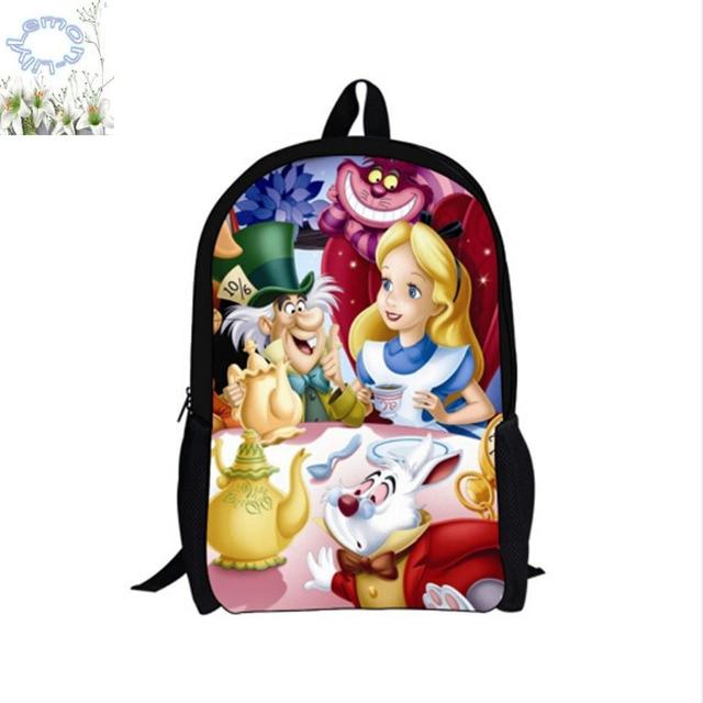 US $23.99 |16 Inch Alice In Wonderland Rugzak Aangepaste Mochila Mujer Kinderen Schooltas Mochila Escolar Tiener Gift Gratis Verzending A040 in 16