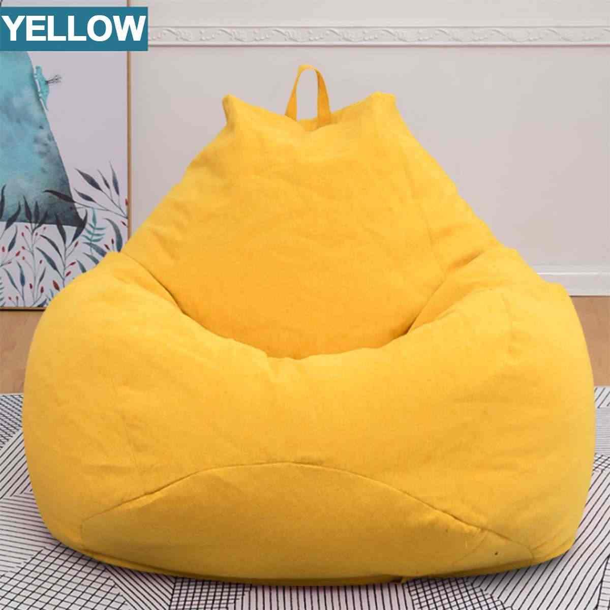 Sofás Beanbag Cadeira Espreguiçadeira Sofá Tampa Da Cadeira Do Algodão Stuffed Animal Assento Pufe À Prova D' Água Tampa do Saco de Feijão sem Preencher Apenas