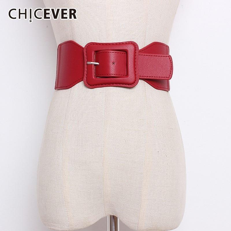 CHICEVER Autumn Winter Elastic Corset Female Belts For Women High Waist Black Women's Wide Belts For Dress Accessories Korean
