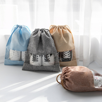 5Pcs/Lot Drawstring Shoe Bag Travel Packing Cube Clothes Protective Storage Pouch Trip Organizer Accessories Item