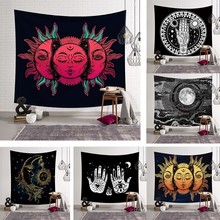 India Mandala Tapestry Wall Hanging Hippie Psychedelic Nature Sun Moon Map Witchcraft Tarot Boho Decor Bedroom Rug