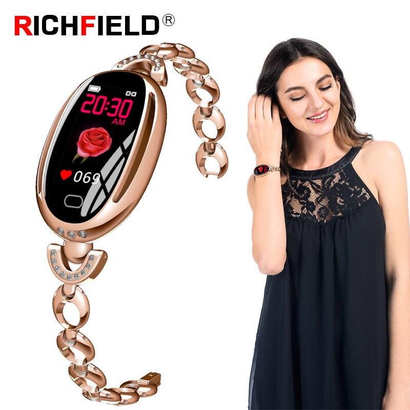 E68 Women Smart Bracelet Blood Pressure Fitness Tracker Sleep Monitor Female Watch Phone Band Lady Wristband watch