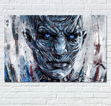 Night King Art Paintings White Walkers Hand Painted Abstract Oil Painting Picture Game of Thrones Poster For Bar Wall Decor