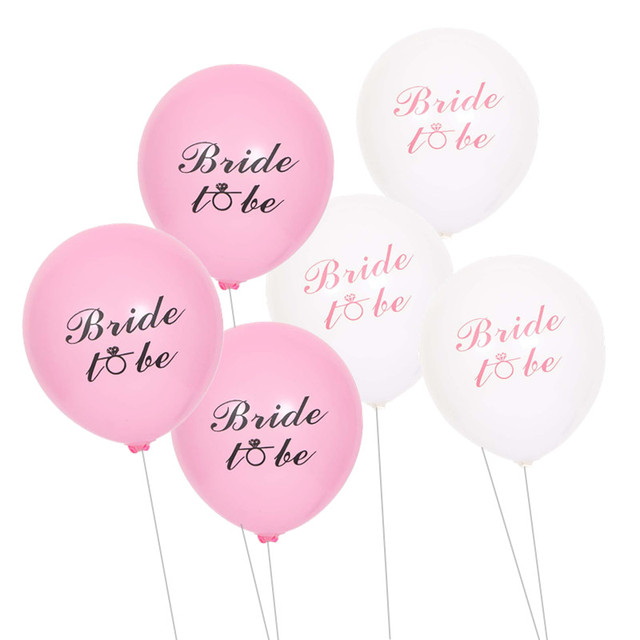 10pcs Lot 10inch Bride To Be Printed Latex Balloons Wedding