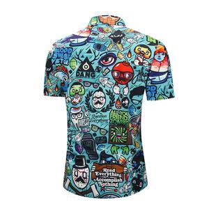 Image 4 - PLUS ขนาด 2XL ชายฤดูร้อนสบายๆการ์ตูน 3D พิมพ์เสื้อแขนสั้น Tee เสื้อ Turn Down COLLAR เสื้อฮาวาย TOP สำหรับวันหยุดชายหาด