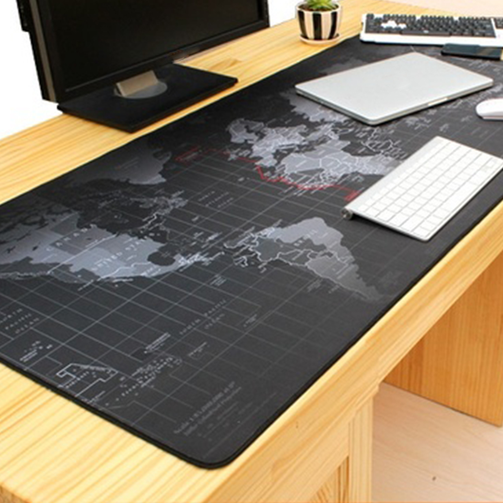 Waterproof Mouse Mat World Map Pattern Mouse Pad Anti Slip Office Desk Protector Desk Writing Mat Desk Pad(9040CM)