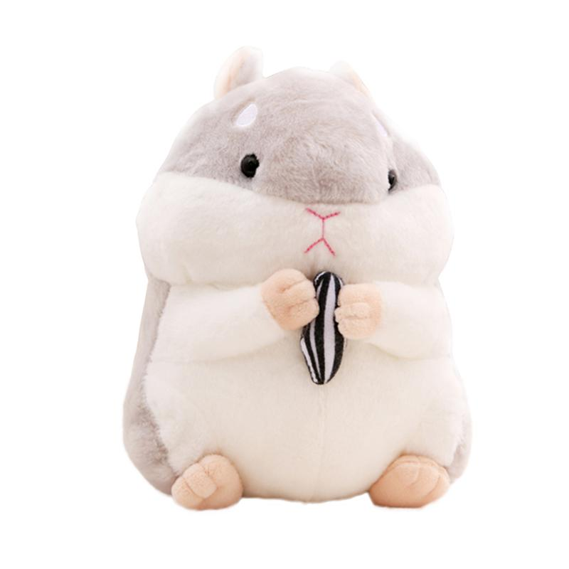 Real Life Plush grey Dependable Cute Hamster Stuffed Doll Simulation Plush Toy Cartoon Adorable Toy For Kids Children Toddlers Gift Home Decor 23cm