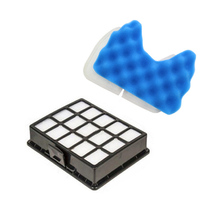 6pcs/lot Vacuum cleaner dust hepa filter & foam replacements for samsung DJ97-00492A SC6520 SC6530 /40/50/60/70/80/90