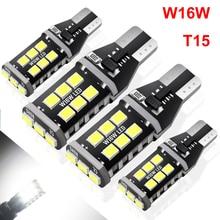 цена на 4pcs T15 W16W LED Bulbs 921 920 912 Canbus Error Free Backup Reverse Light 2835 SMD 6000K White Auto Car Parking Lamp DC 12V