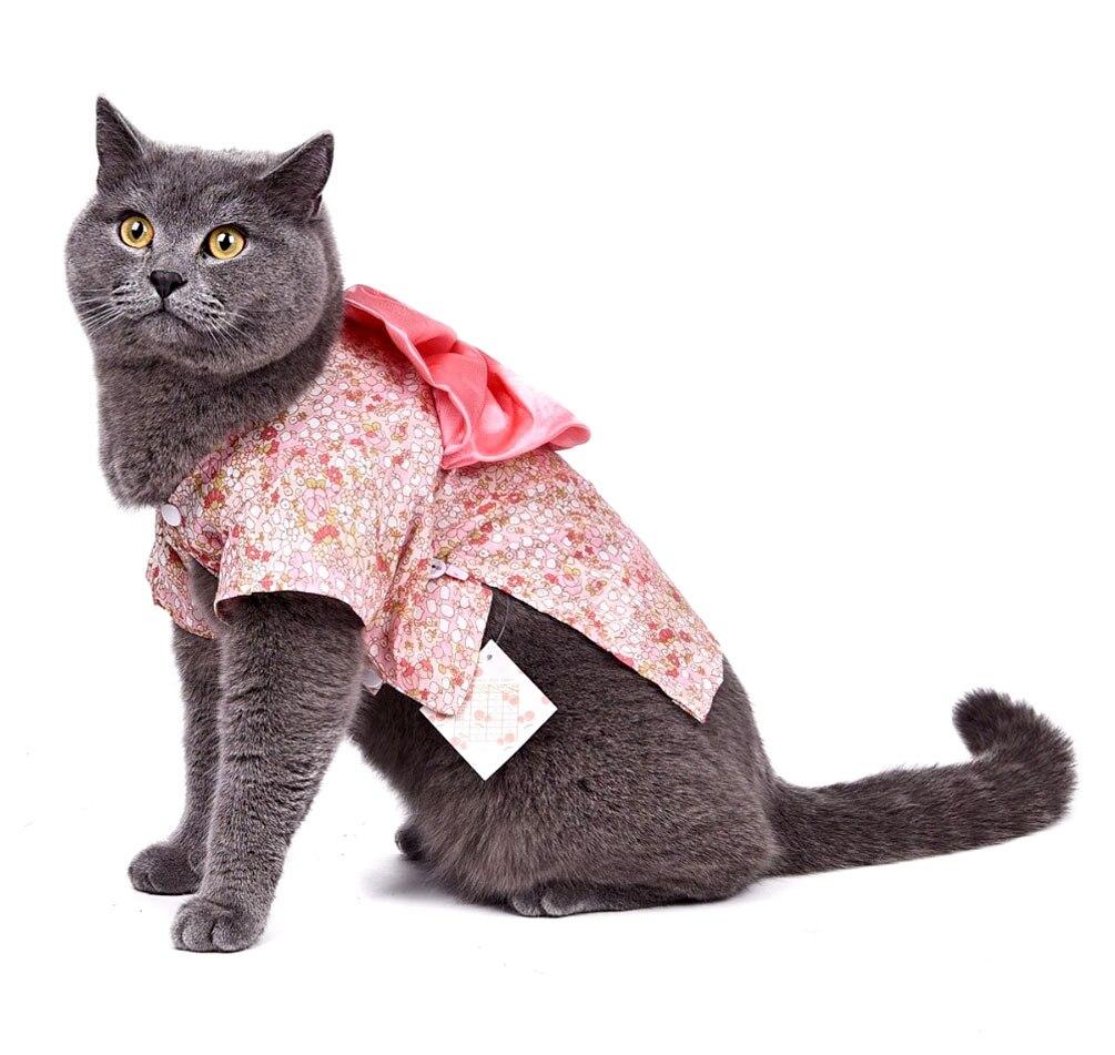 2617df144 2017 كلب صغير القط ثوب الكيمونو الياباني مصمم الأزياء مع القوس الأزهار  الشريط الكلب معطف نمط كلب صغير الربيع اللباس الحيوانات الأليفة الملابس