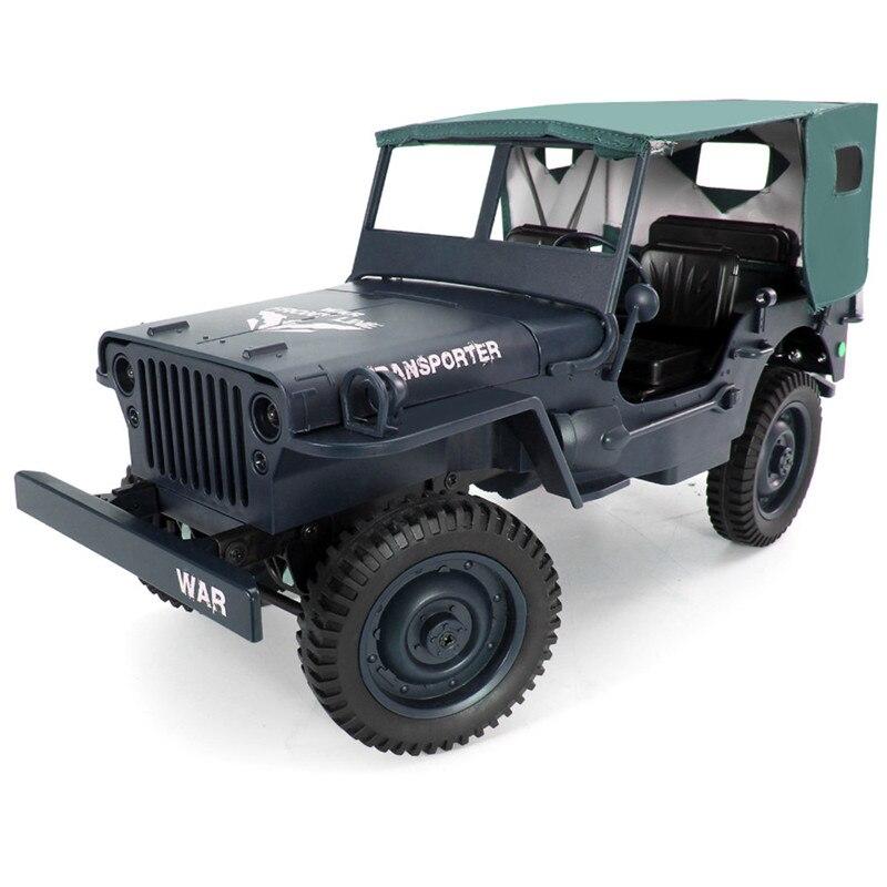JJRC Q65 Mini voiture RC 2.4G 1/10 Jedi proportionnel 15 km/h télécommandé chenille militaire RC voiture avec auvent lumière LED jouets