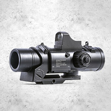 Besegad 6X Tactical Magnifier Scope Red Dot Sight Primary Hunting for Nerf Series Blaster Water Toys