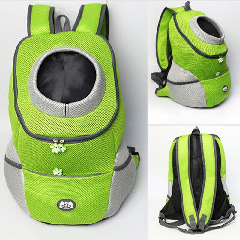 Sac pour chiens voyage Double épaule sac à dos chiens sac transportant Bleathable maille Pet transporteur chien avant poitrine sac à dos pour Hiking29