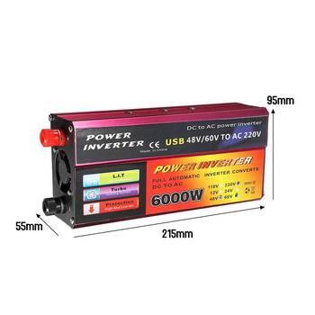 Solar Inverter 12V 220V 6000W Peak Voltage Converter Transformer DC 12V&24V 48V&60V To AC 110V/220V Auto Adapt Inversor 3