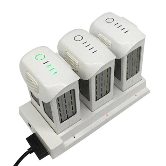 Phantom 4, concentrador de carga de batería 3 en 1, cargador inteligente de batería para DJI Phantom4