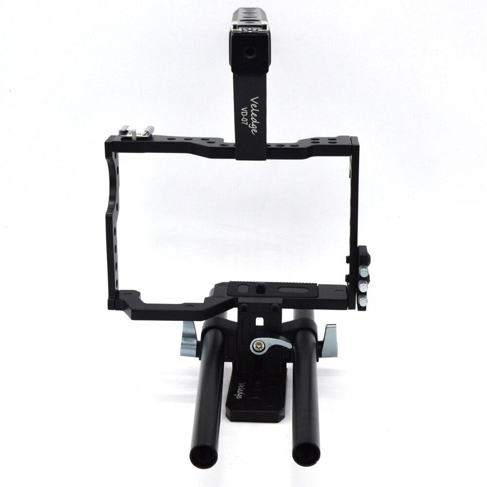 Kit de Cage vidéo d'appareil-photo Dslr d'appareil-photo de tige de Vd-07 de Veledge stabilisateur pour Sony Gh4 A7S A7 A7R A7Rii A7Sii accessoires d'appareil-photo durables - 4