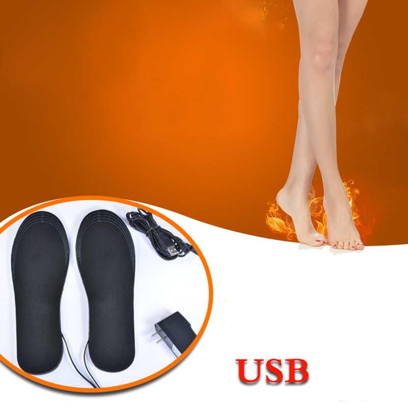 Новая электрическая usb-зарядка Подогреваемые стельки работающие на отопление стельки зимняя Утепленная одежда обувь стелька EVA Материал