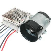 Voiture Turbine électrique puissance Turbo chargeur ventilateur d'admission d'air régulation de vitesse automatique haute efficacité 20000 RPM12V adapté pour 0.8-2.0L