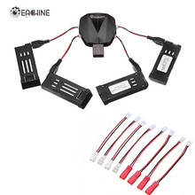 Eachine 4-in-1 USB Charger with 4Pcs 3.7V 500MAH Rechargeable Lipo Battery Charging Cable for E58 E010 X5C H107L(China)