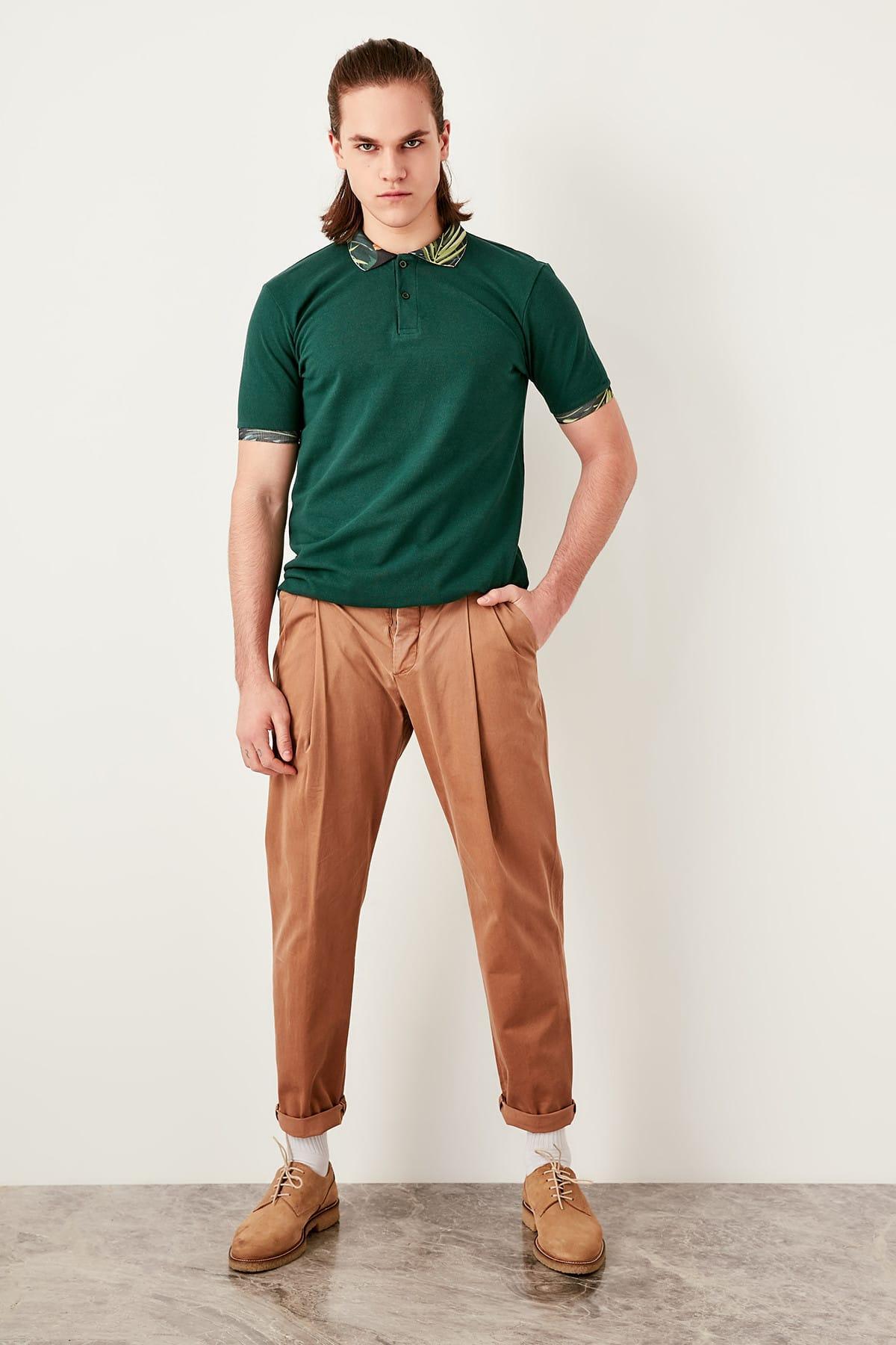 Suche Nach FlüGen Trendyol Grün Männlichen Colar Gemusterte Polo Kragen T-shirt Tmnss19qa0033 Weitere Rabatte üBerraschungen